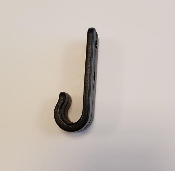 Carrosseriehaak zwart zijk