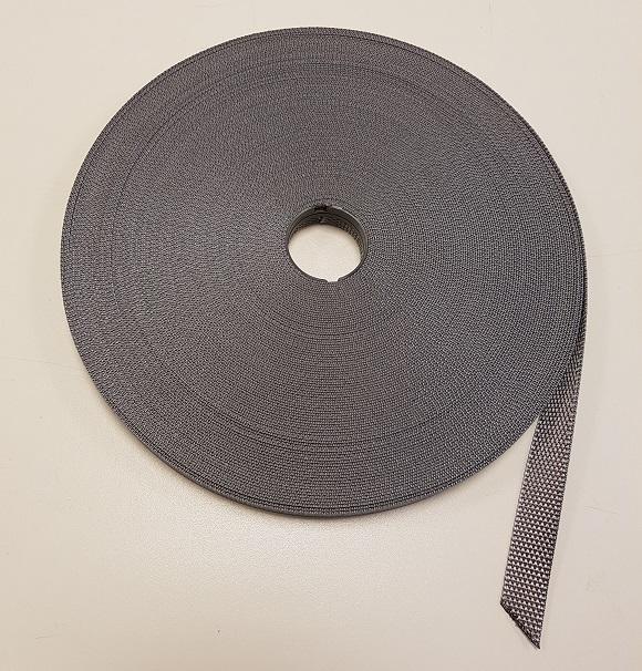 Polyesterband grijs