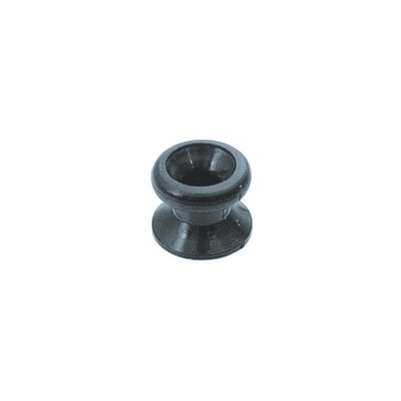 Nylon knop zwart klein