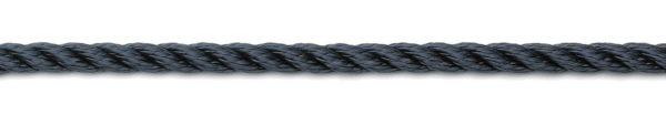 Landvast 3-strengs polyester navy U-Rope