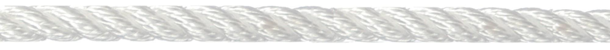 Landvast 3-strengs polyester wit U-Rope