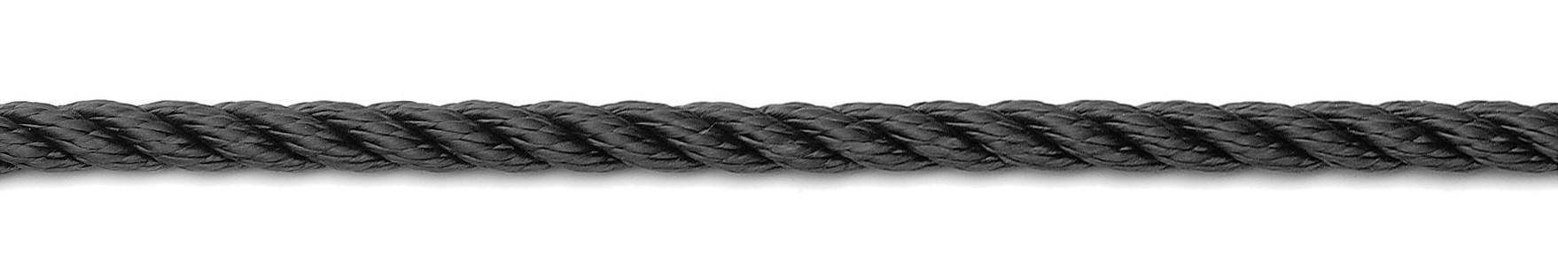 Landvast 3-strengs PPM zwart U-Rope