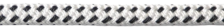 Landvast deluxe polyester wit/navy U-Rope