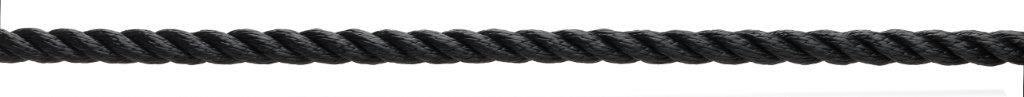 3 strengs polyester lijn Marlow zwart